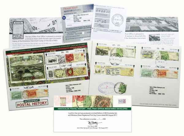 Knockaloe Registered First Day Cover Set