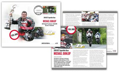 TT record-breaker Michael Dunlop honoured by Isle of Man Post Office