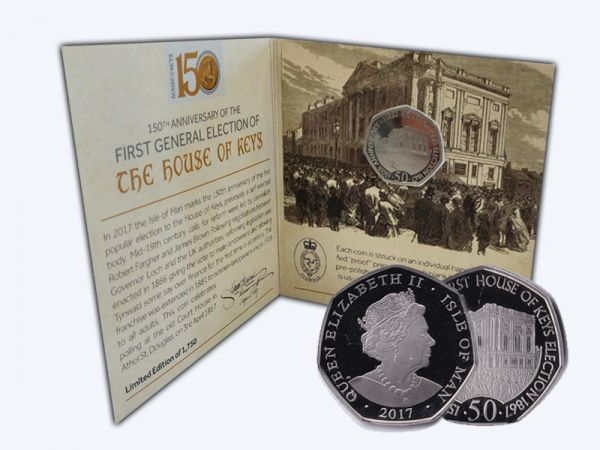 House of Keys Limited Edition 50p 'Proof-like' Collector's Pack