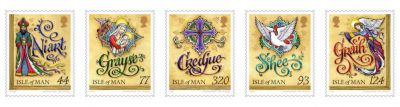 Five festive stamps released on 250th anniversary of the first prayer book published in Manx Gaelic