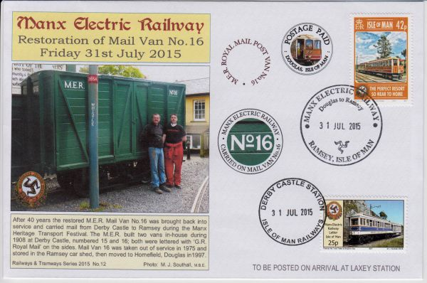 Isle of Man Railways MER Mail Van No.16 Special Envelope