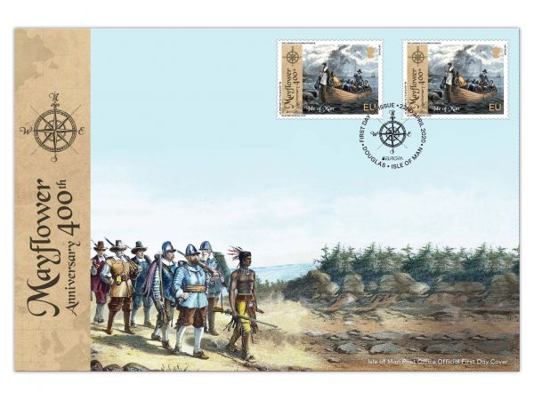 The 400th Anniversary of the Mayflower Europa Cover