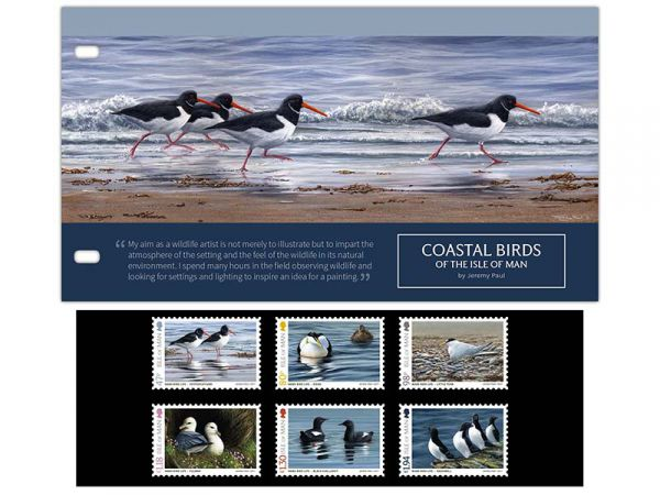 Coastal Birds of the Isle of Man by Jeremy Paul Presentation Pack