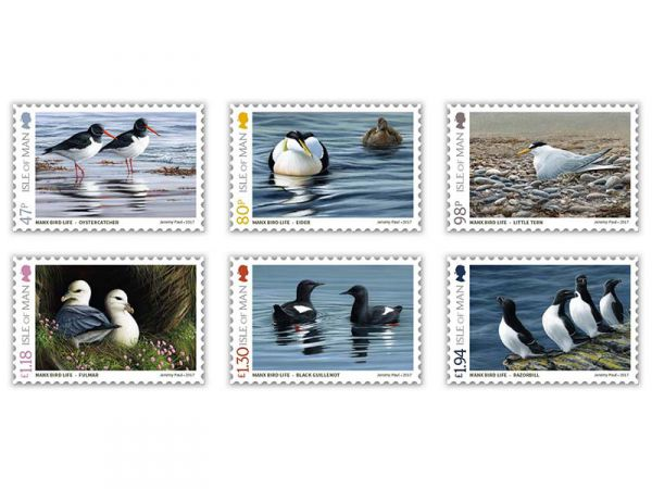 Coastal Birds of the Isle of Man by Jeremy Paul Sets and Sheets
