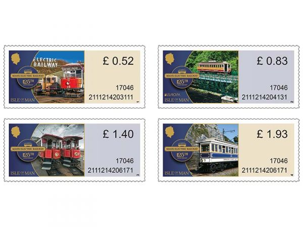 Manx Electric Railway Variable Value Definitives Set