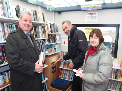 Mobile Family Library to sell stamps & collect letters