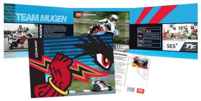 Limited edition Mugen postcard and gift pack to celebrate John McGuinness' 21st victory at SES TT Zero