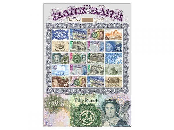 Isle of Man Bank Notes Limited Edition Stamp Sheet