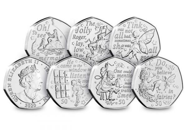 Isle of Man Treasury 2020 Peter Pan Part II 50p Coin Pack