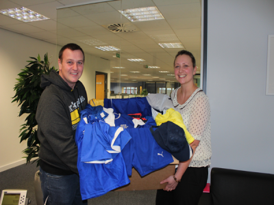 Football kit supplies sent to South Africa
