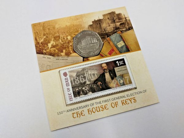 House Of Keys Stamp & Coin Pack