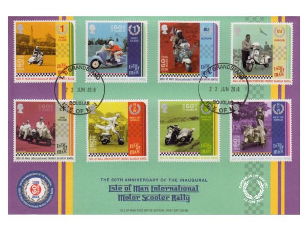60th Anniversary Manx International Scooter Rally Special 'carried' Grandstand Cover