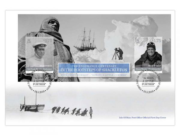 In the Footsteps of Shackleton Miniature Sheet First Day Cover