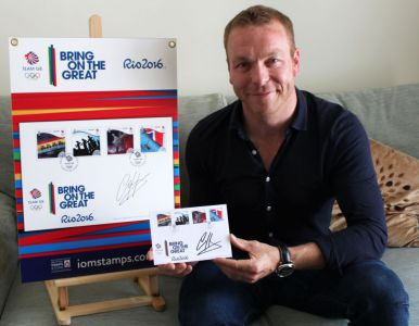 Sir Chris Hoy MBE makes his mark on Isle of Man Post Office Commemorative Team GB Rio 2016 Covers