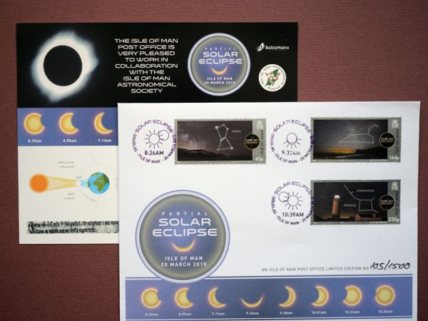 2015 Isle of Man Solar Eclipse Special Cover