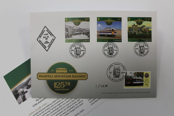 Snaefell Mountain Railway 125th Anniversary Cover