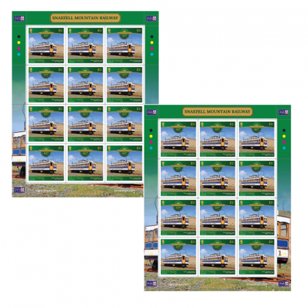 2 x Sheets of Snaefell Mountain Railway EU Stamps (24 stamps in total)