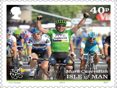 Stamps to mark the 100th edition of the Tour de France