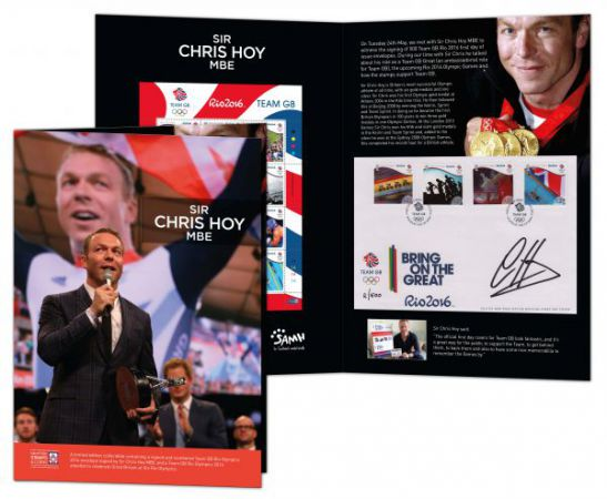 Sir Chris Hoy Rio 2016 Olympics Special Envelope Album