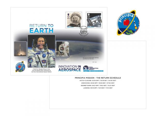Tim Peake Return to Earth Special Envelope