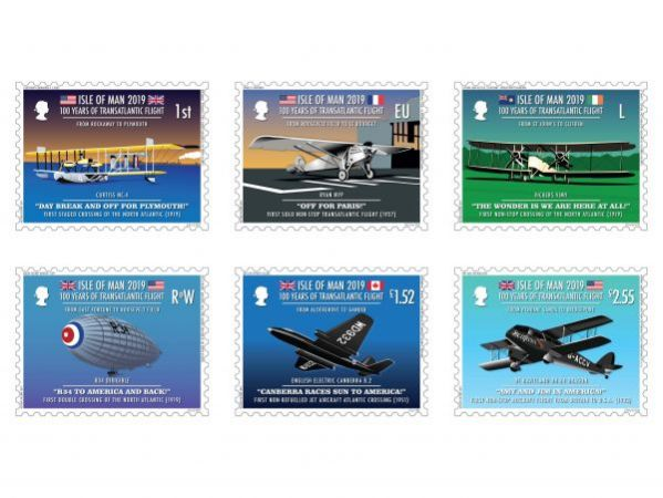 100 Years of Transatlantic Flight Set and Sheet Set