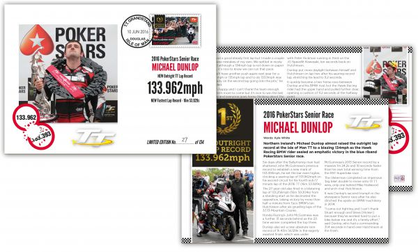 Michael Dunlop Limited Edition Senior Race Day Lap Record Special Envelope